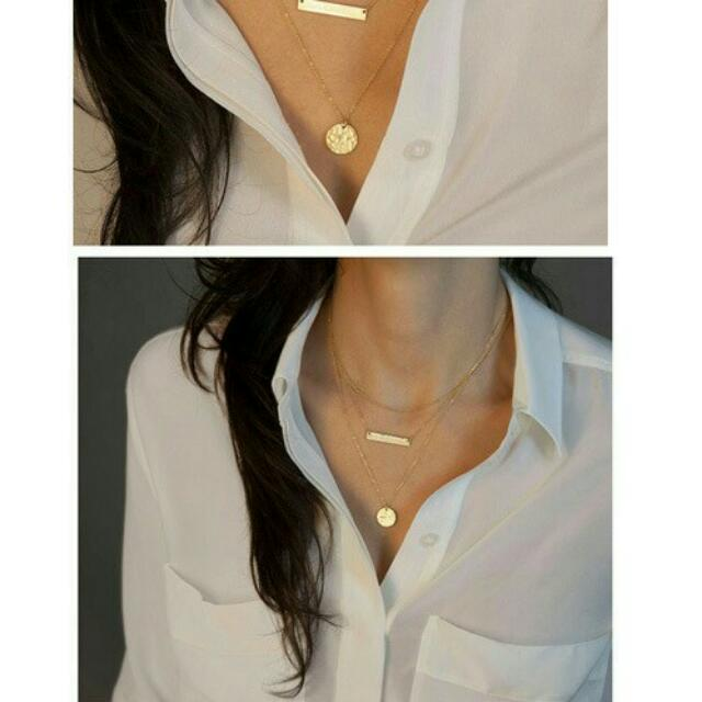 Kalung Gold Triple Layer