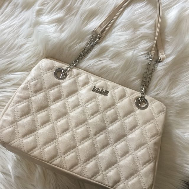 KATE HILL HAND BAG - CREAM - NEW
