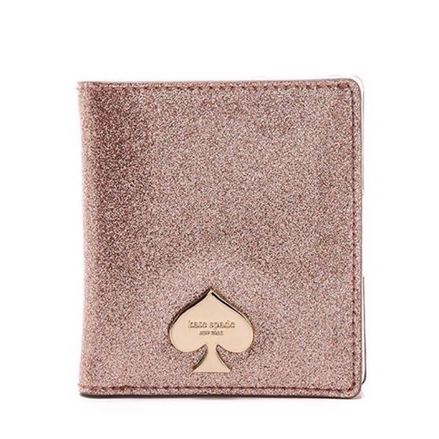 Kate spade glitter bug small wallet authentic