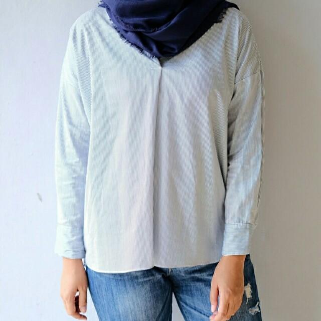 Kenzie blouse stripes blue