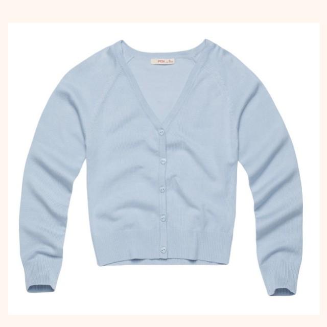 f74ce015a Knit cardigan - Light blue color