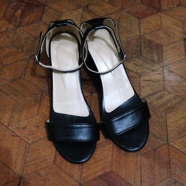 Leather Block Heels