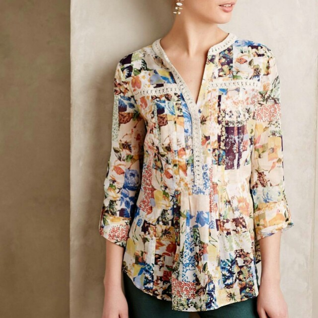 Maeve Fashion Floral Patterned Blouse