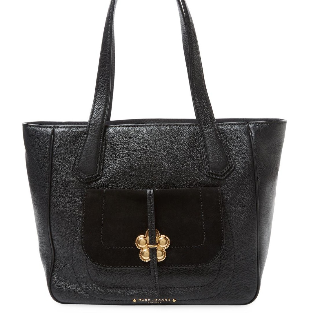 Marc Jacobs Petal to the Metal Flower Leather Black Bag