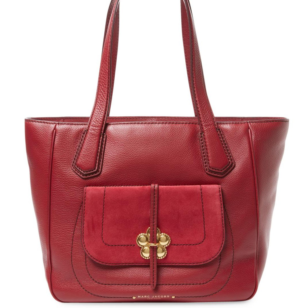 Marc Jacobs Petal to the Metal Flower Leather Red Bag