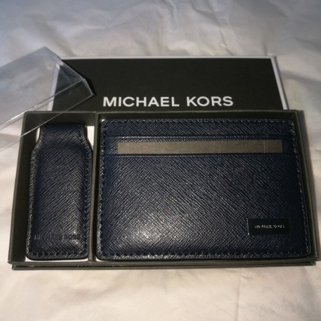 dfb0f13e1783 MICHAEL KOR MENS Gift Set Card Case With Money Clip