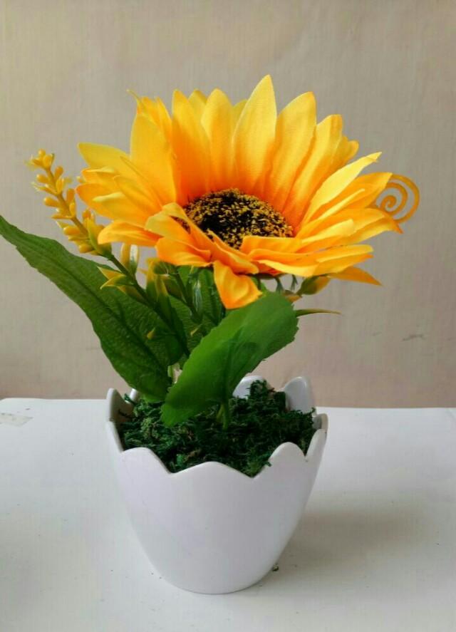 Unduh 550 Gambar Bunga Matahari Di Vas Bunga Paling Cantik