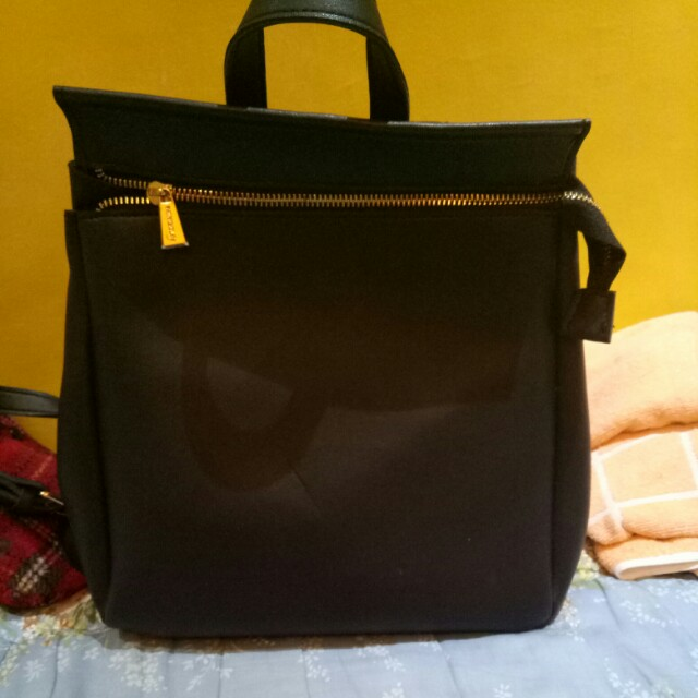 Miniso learher bag pack