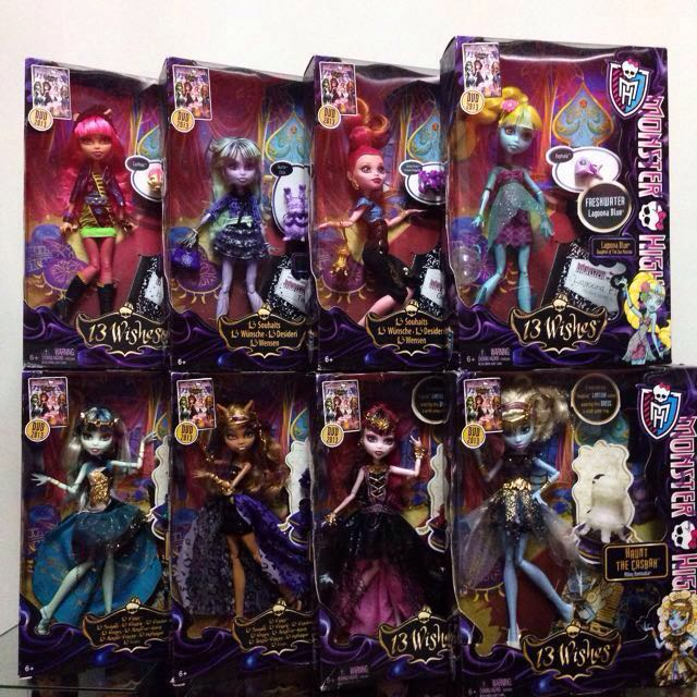 Monster High 13 Wishes dolls & playsets the complete collection