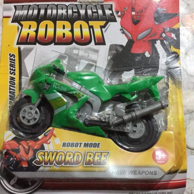Motorcycle turned Robot