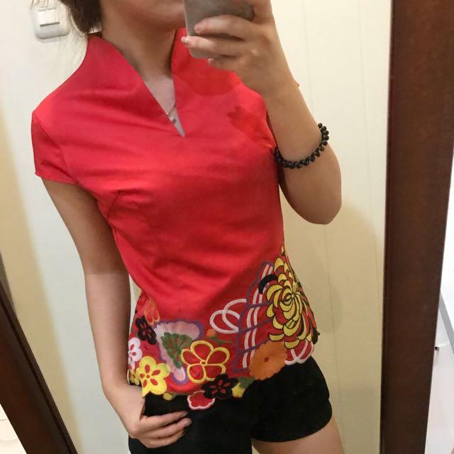 Natali red top
