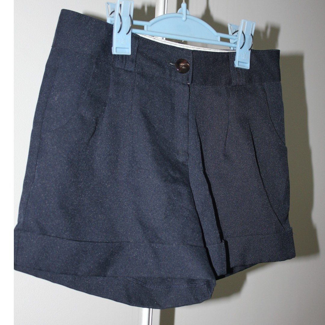 Navy High Waisted Shorts From S.Korea Size Small