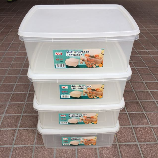 NCI / IKEA Extra Large Plastic Storage Containers