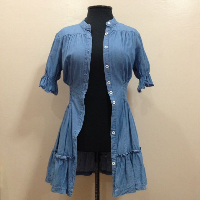 New:Cover up/dress chambray