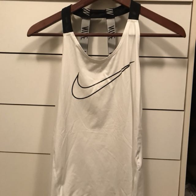 Nike workout tank top white