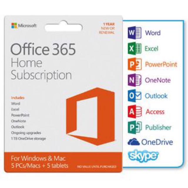 Office 365 Home, Electronics, Aksesori Komputer di Carousell