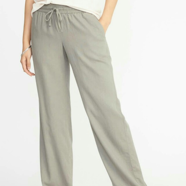 Old Navy Linen Grey Pants