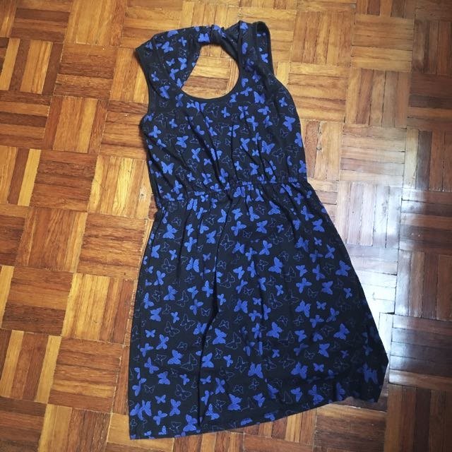 Padini Butterfly Short Dress (surprise back design)