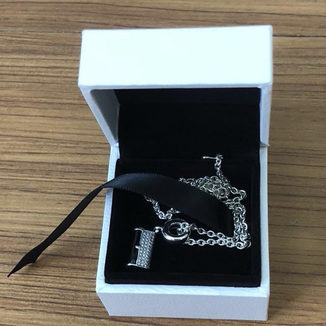 pandora潘朵拉925純銀項鍊45cm及吊飾丹麥珠寶品牌