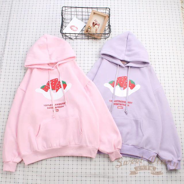 Pastel strawberry sweater