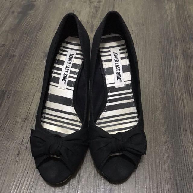 Peep toe wedges