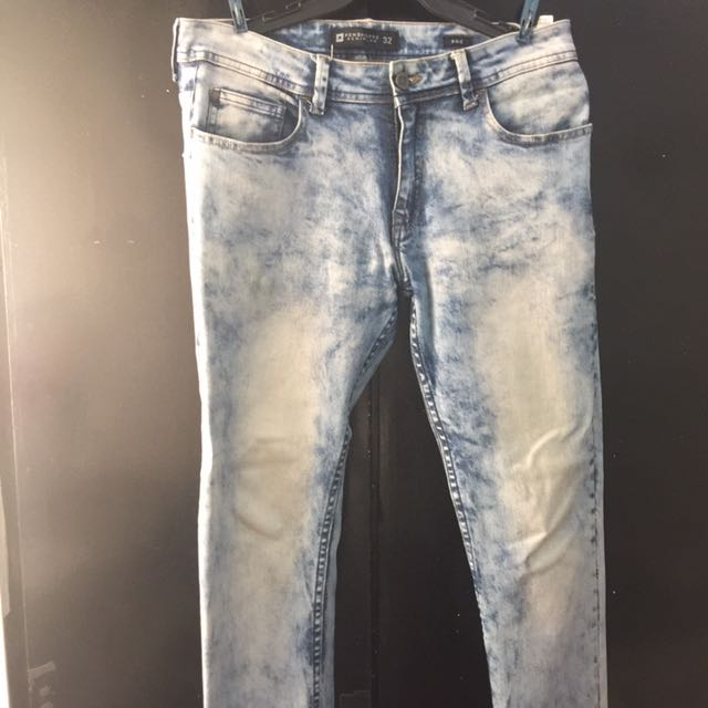 Penshoppe Denim Stretchable Pants Size 32