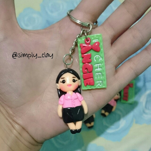 Personalized Chibi with nameplate keychain