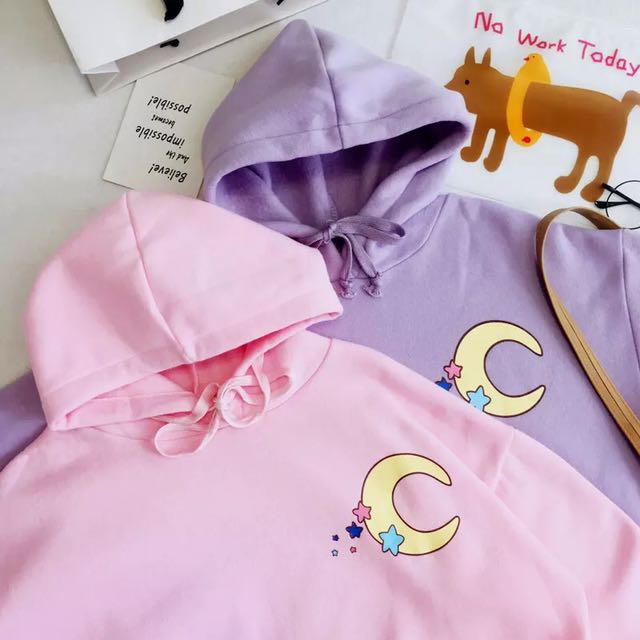 Pink and purple moon sweater