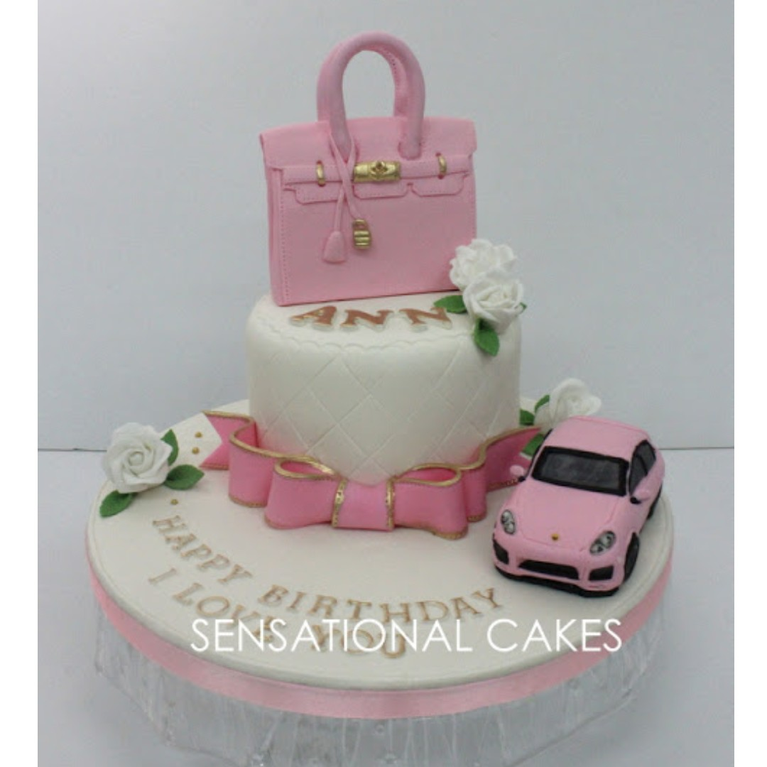 70bf3fe8090a Pink Chanel 2.55 Berkins Bag Customized Cake Singapore with PINK ...