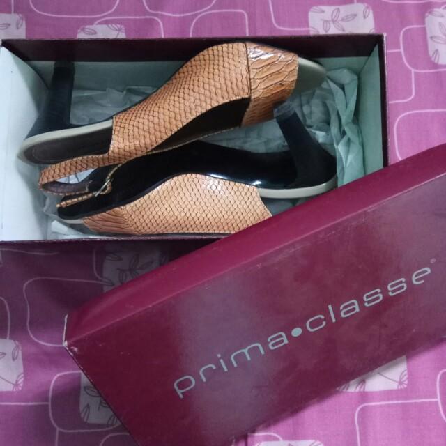 Prima Classe High heels croco skin creme size 37