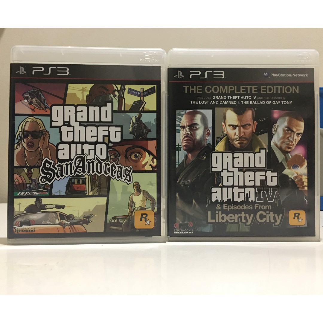 PS3 Games - Grand Theft Auto: San Andreas // Grand Theft Auto: IV (Episodes from Liberty City)