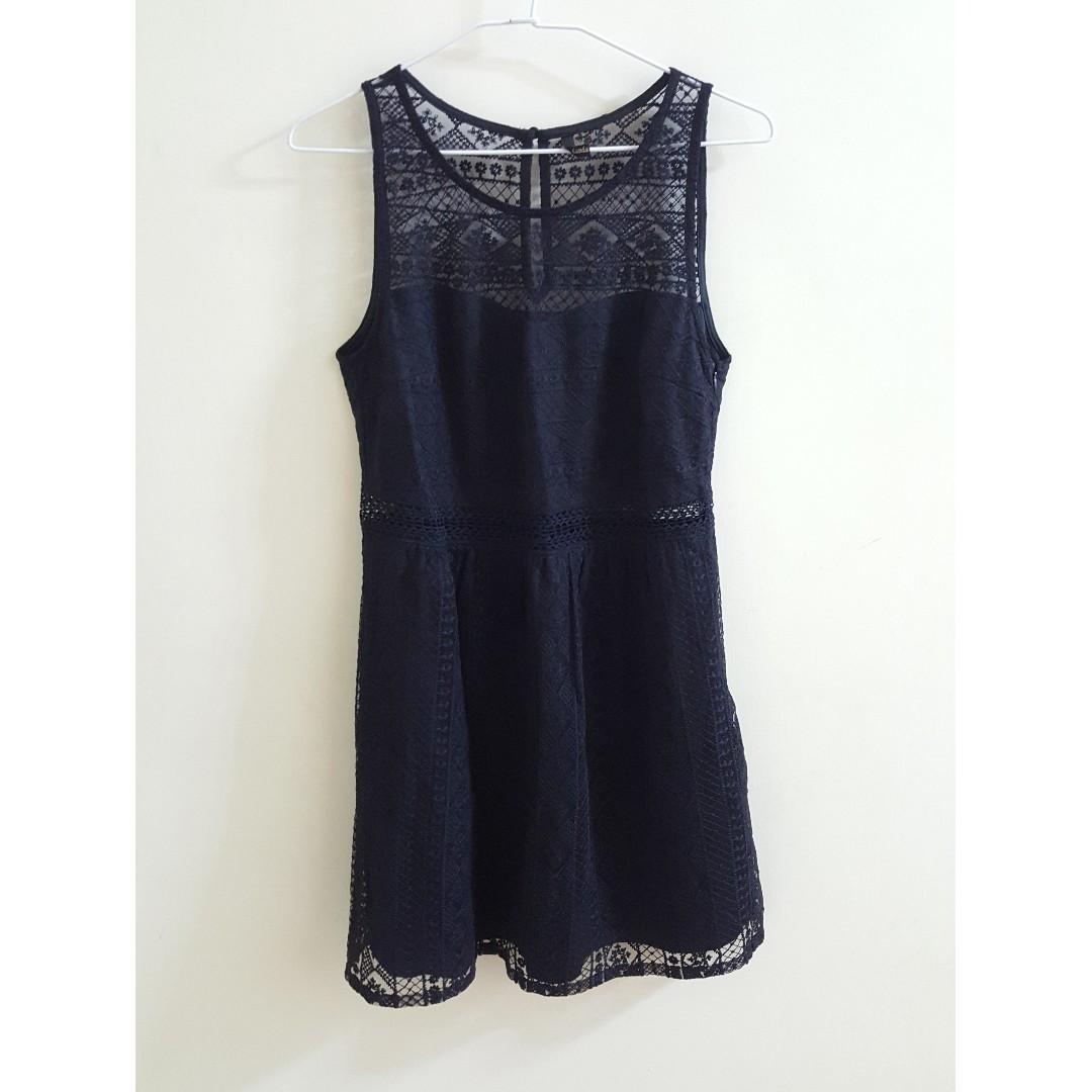 【全新】Ps company 微性感鏤空透膚蕾絲小洋裝
