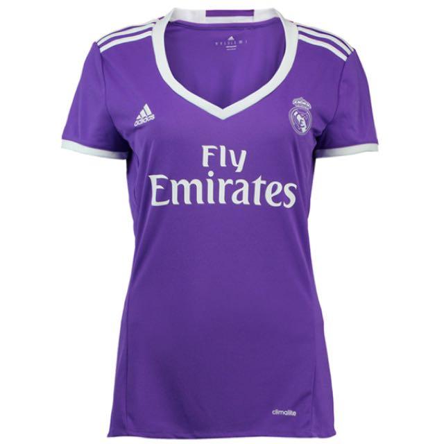 san francisco bb2f9 056fc Real Madrid Away 2016-2017 Purple Jersey - Women's Size M