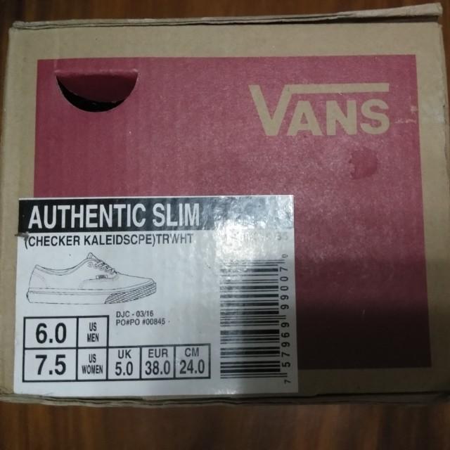 (repriced) Authentic VANS checkered kaleidescope (slim)