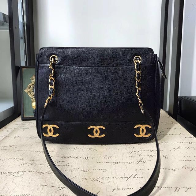 60778878fcd7 Reserved  Chanel 6 CC gorgeous caviar tote