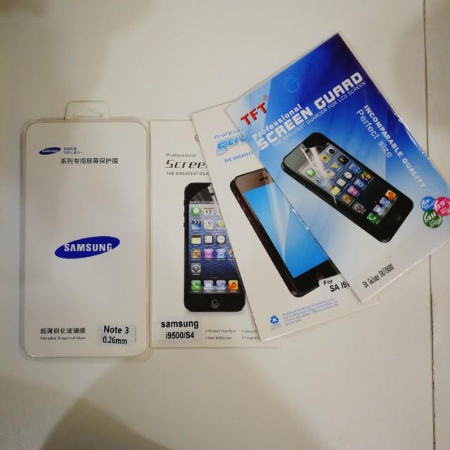 Samsung Note 3 & S4 screen protectors
