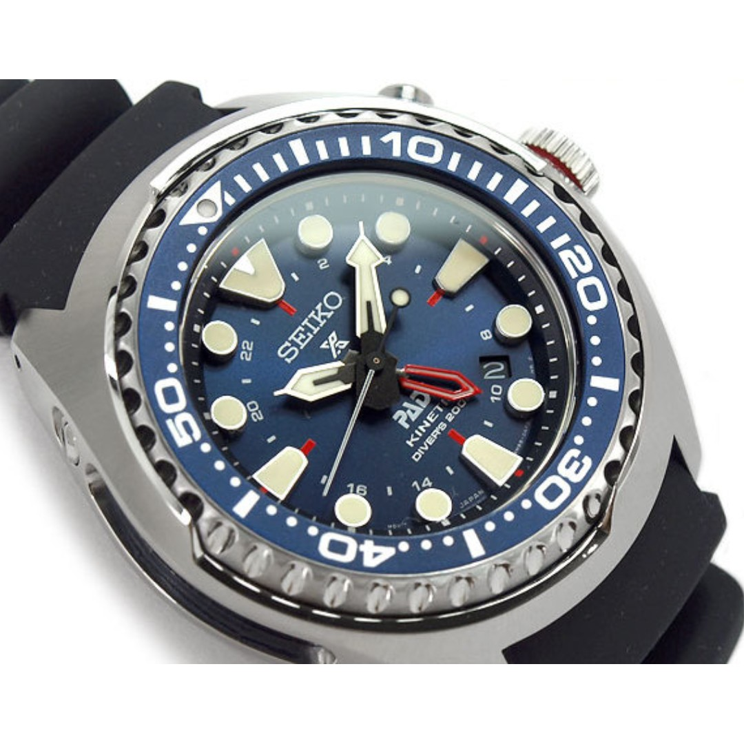 Seiko Prospex SUN065 SUN065P SUN065P1 Special Edition PADI Kinetic GMT  Diver Watch a6f7af6d41