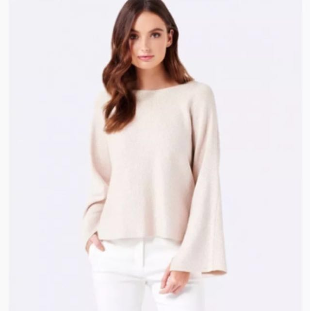Shimmery bell sleeve knit RRP $100+