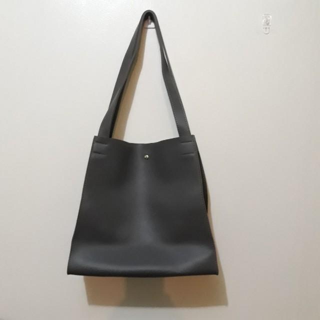 SHOULDER BAG - GRAY