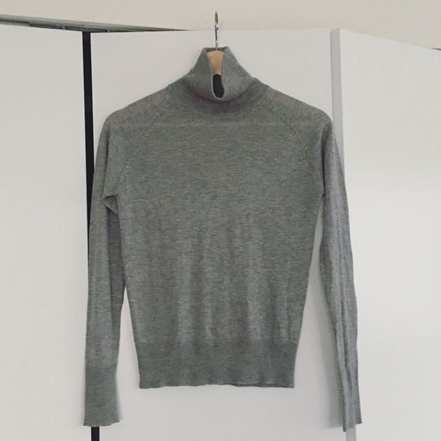 Silk Blend High Neck Sweater