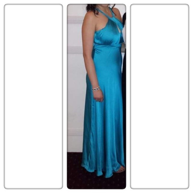 Size 10 teal silk dress - only worn once