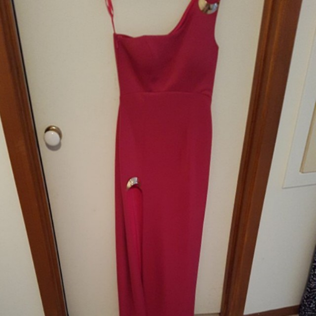 Size 12 Bariano hot pink dress - only worn once