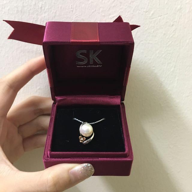 SK Jewellery pearl pendant