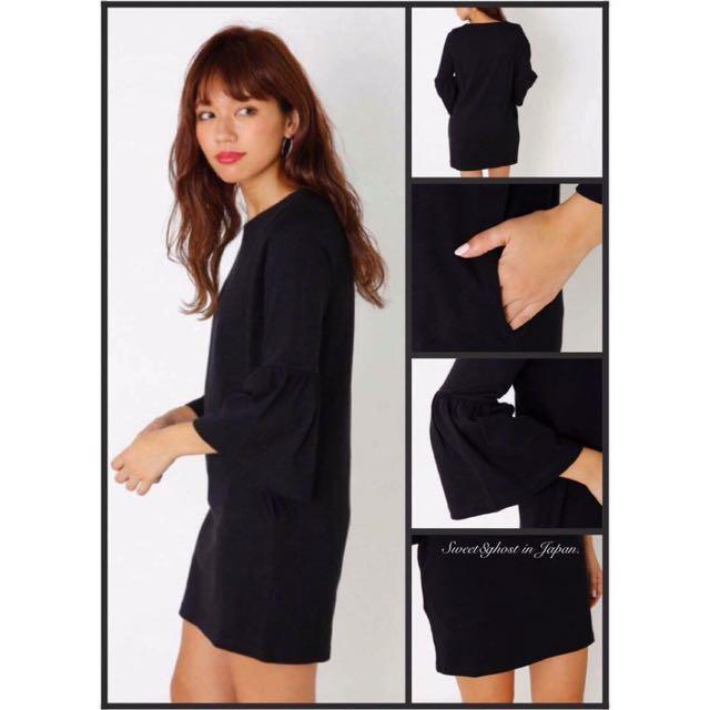 Sly 黑色寬袖洋裝《全新真品》