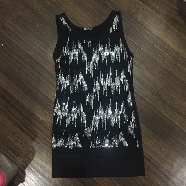 Sparkly Black and Silver Dress