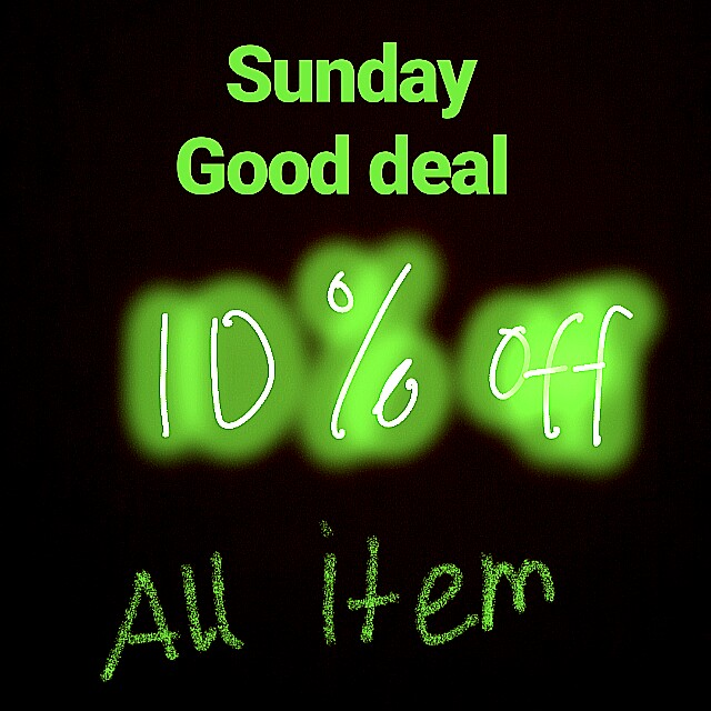 Sunday Good Deal (only for Sunday)