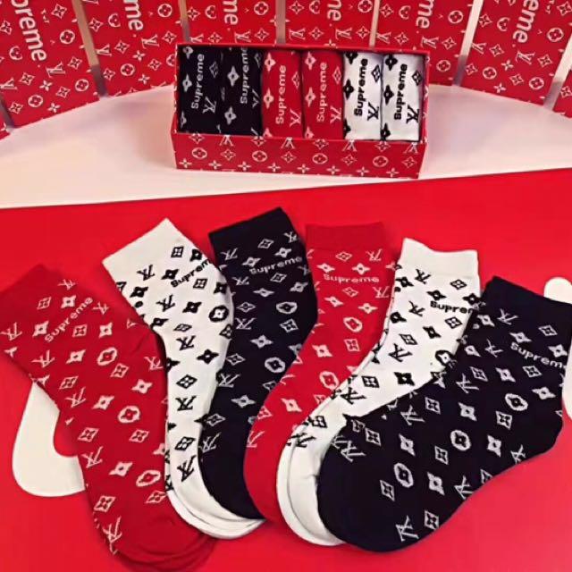 Supreme LV Socks Set, Men's Fashion, Accessories, Socks On Carousell