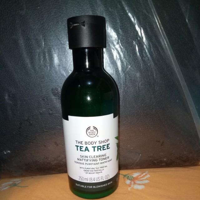 Tea tree the body shop toner dan facial wash