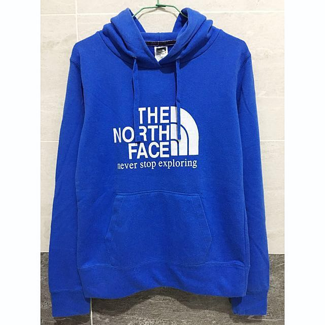 The north face 古著寶藍連帽上衣