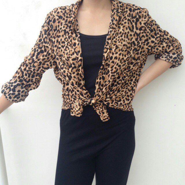 Top H&M Leopard motif